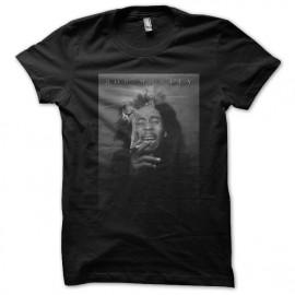 tee shirt bob marley black