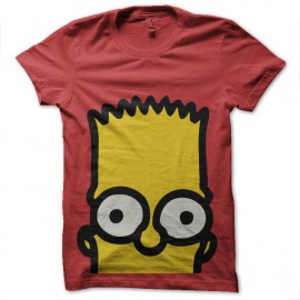 tee shirt Bart Simpson red