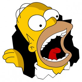 tee shirt Homer Simpson white