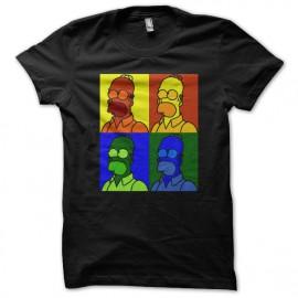 tee shirt homer simpson pop art black