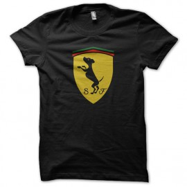 tee shirt ferrari black