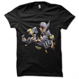 tee shirt wolverine mode comics noir