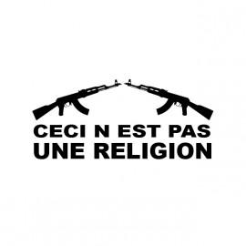 tee shirt ceci n'est pas une religion noir