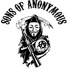 tee shirt sons of anonymous parodie SOA blanc