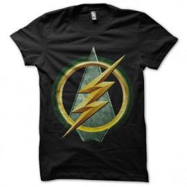tee shirt Green Arrow vs Flash noir mixtes tous ages