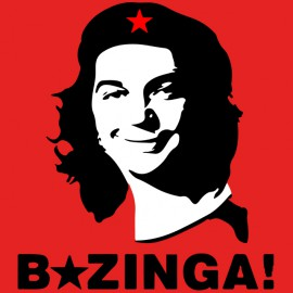 tee shirt che bazinga red