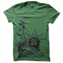tee shirt marijuana queen green