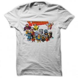 tee shirt x minions blanc