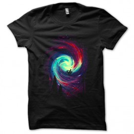 tee shirt Galaxies design noir