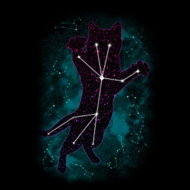 tee shirt star cat noir