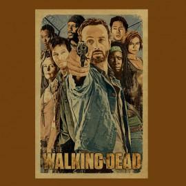 tee shirt the walking dead marron