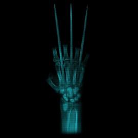 tee shirt claw X-ray noir