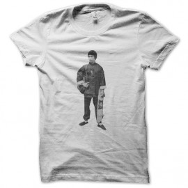 tee shirt Bruce Lee skate sliding blanc