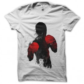 tee shirt fighter art blanc