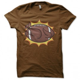 tee shirt american chicken ball marron