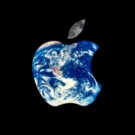 tee shirt Apple World noir