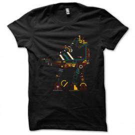 tee shirt Star Wars Funny  noir