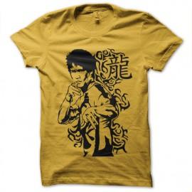 tee shirt bruce lee  jaune