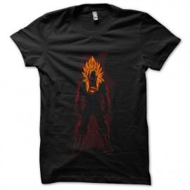 tee shirt super saiyan man noir