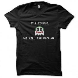 tee shirt Joker Its Simple We Kill The Pacman noir