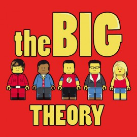 tee shirt the big theory rouge