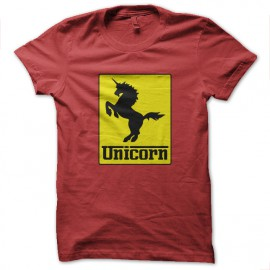 tee shirt Unicorn rouge