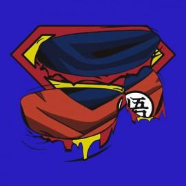 tee shirt Super Goku bleu