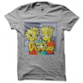 tee shirt simpson version manga gris