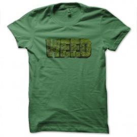 tee shirt weed vert
