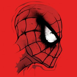 tee shirt spiderman rouge