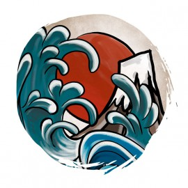 Tee Shirt Hokusai Japon blanc
