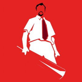 tee shirt shaun of the dead rouge