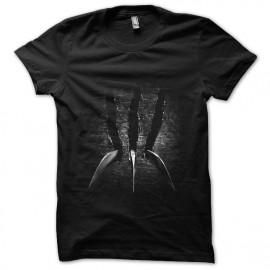 tee shirt claw wolverine noir