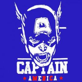 tee shirt captain america bleu