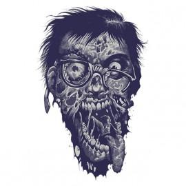 tee shirt geek zombie blanc