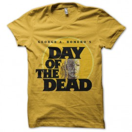 tee shirt day of the dead jaune
