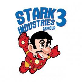 tee shirt stark industries iron man 3 blanc