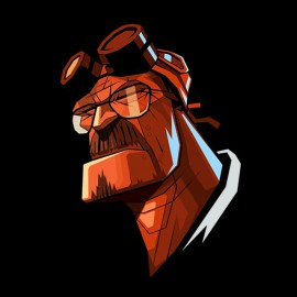 tee shirt breaking bad face hellboy noir
