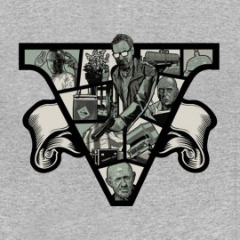 breaking bad t shirt design gris