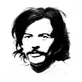 tee shirt portrait jean ferrat blanc