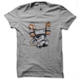 tee shirt stormtrooper beer gris