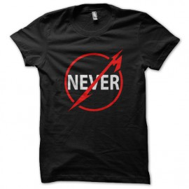 tee shirt Never noir