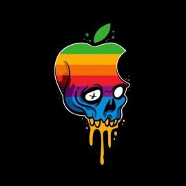 tee shirt apple skull noir