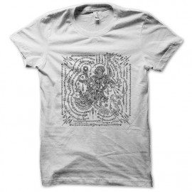 tee shirt Tattoo magic superstition blanc