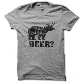 tee shirt Beer gris