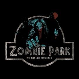 tee shirt zombies park noir