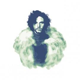 tee shirt jon snow aquarelle blanc