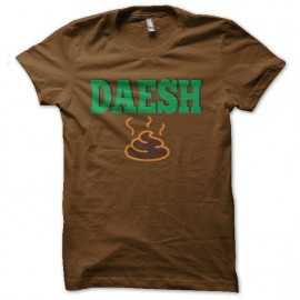 tee shirt daesh caca marron