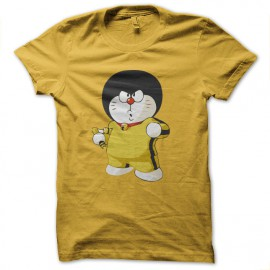 tee shirt bruce lee doremon jaune