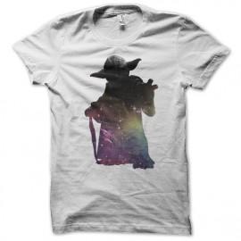 tee shirt Star wars - Yoda hombre blanc mixtes tous ages